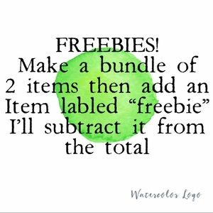 LOOK FOR FREEBIES!